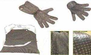 guanti e grembiuli antinfortunistica inox e alluminio