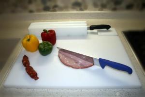 tagliere e porta coltelli